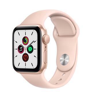 アップルウォッチ(Apple Watch)のApple Watch SE(GPSモデル)- 40mmゴールド(腕時計(デジタル))