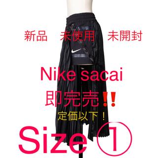 サカイ(sacai)の完売!!新品未使用!NIKE sacai Skirt プリーツスカート ブラック(ロングスカート)
