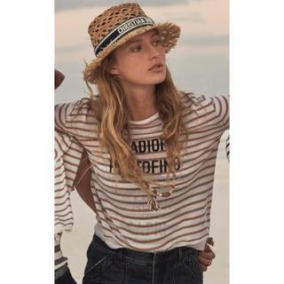クリスチャンディオール(Christian Dior)のSak様専用 ディオール 帽子 ラフィア 58(麦わら帽子/ストローハット)