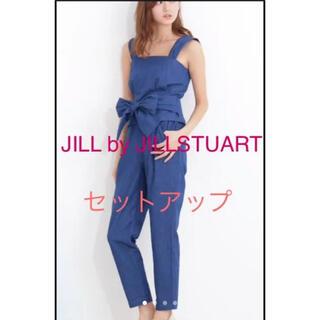 ジルバイジルスチュアート(JILL by JILLSTUART)の美品 ジルバイジルスチュアート セットアップ ビスチェ リボン 刺繍(セット/コーデ)