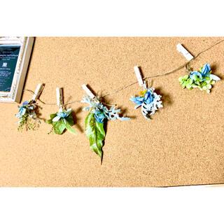 ナチュラルドライフラワー ミニスワッグガーランド 0806-2紫陽花、リーフなど(ドライフラワー)