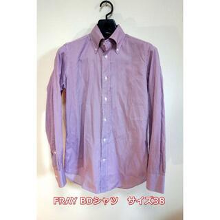 バルバ(BARBA)の【良品】FRAY ストライプBDシャツ フライ サイズ38(シャツ)