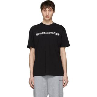 VETEMENTS Tシャツ ブラック  ロゴ 希少 レア S 正規品(Tシャツ/カットソー(半袖/袖なし))