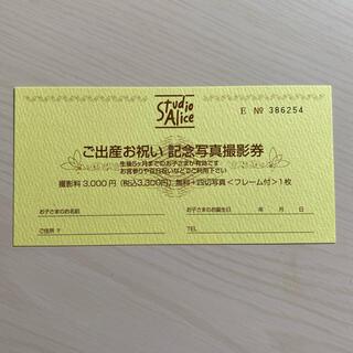 スタジオアリス 記念撮影写真券 無料券(その他)