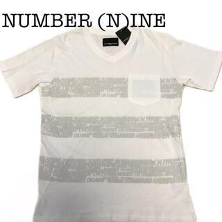 ナンバーナイン(NUMBER (N)INE)の未使用 ナンバーナイン デニム ロゴプリント ポケットTシャツ 半袖 Vネック(Tシャツ/カットソー(半袖/袖なし))
