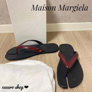 マルタンマルジェラ(Maison Martin Margiela)の【大人気★】Maison Margiela タビ 足袋 レザー ビーチサンダル(サンダル)