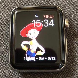 アップルウォッチ(Apple Watch)のapple watch series3 38mm セルラー ステンレス レア(腕時計(デジタル))