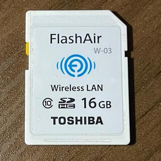 トウシバ(東芝)のTOSHIBA SDカード FlashAir W-03 16GB(その他)