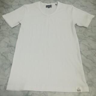 アベイル(Avail)のアベイル リブ Vネック 無地 半袖 Tシャツ(Tシャツ/カットソー(半袖/袖なし))
