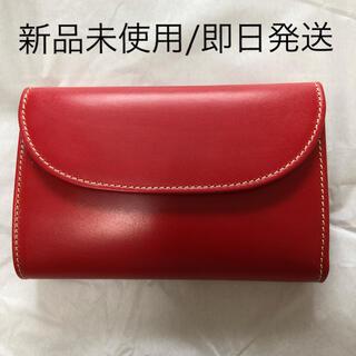 ホワイトハウスコックス(WHITEHOUSE COX)のWHITEHOUSE COX ホワイトハウスコックス 三つ折り財布 赤 (財布)