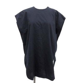ハイク(HYKE)のハイク 20SS カットソー チュニック 半袖 バックレースアップ 2 紺(カットソー(半袖/袖なし))
