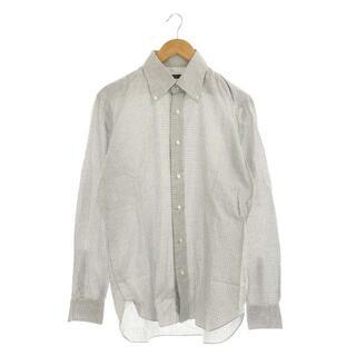 バルバ(BARBA)のバルバ BARBA ボタンダウン チェック シャツ 長袖 白 グレー(シャツ)