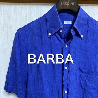 バルバ(BARBA)のBARBA バルバ 半袖 リネンシャツ ブルー(シャツ)