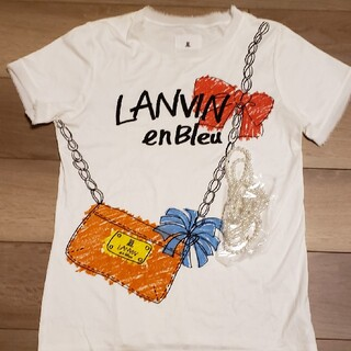 ランバンオンブルー(LANVIN en Bleu)のランバンオンブルー カットソーTシャツ 38(Tシャツ(半袖/袖なし))