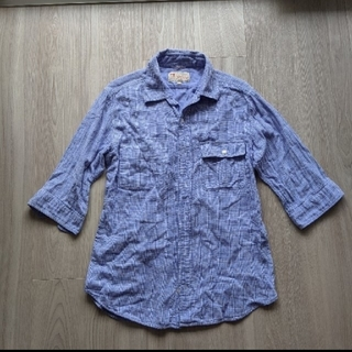 アダムエロぺ(Adam et Rope')のアダムエロペで購入 綿100% 五分袖シャツ L(シャツ)