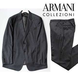 ARMANI COLLEZIONI - 《アルマーニ》新品 ピンドット 2Bスーツ セットアップ  60(W106)