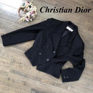 クリスチャンディオール(Christian Dior)のChristian Dior クリスチャンディオール ツイード 9 ブラック(テーラードジャケット)