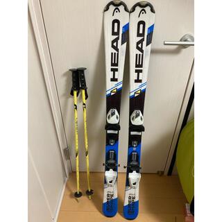 ヘッド(HEAD)のスキー板+ストックセット HEAD ヘッド 117cm  カービング(板)