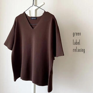 グリーンレーベルリラクシング(green label relaxing)のgreen label relaxing Vネックサマーニット(ニット/セーター)
