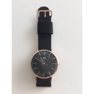 ダニエルウェリントン(Daniel Wellington)のダニエルウェリントン新品ピンクゴールド×ブラウン40MMナイロン(腕時計(アナログ))