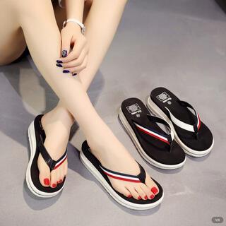 厚底サンダル 軽量 シンプル ビーチサンダル 靴 レディース  (ビーチサンダル)