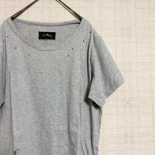 ミスティック(mystic)のオメカシ ダメージ加工Tシャツ カットソー(Tシャツ(半袖/袖なし))
