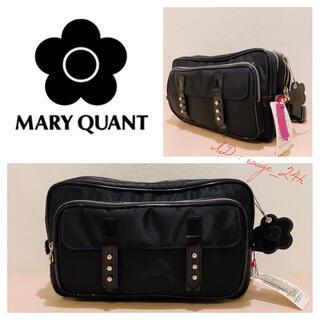 マリークワント(MARY QUANT)の【タグ付未使用】MARY QUANT マリークワント ボディバッグ ブラック(ボディバッグ/ウエストポーチ)
