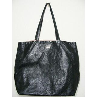 プラダ(PRADA)のPRADAプラダレザー皮革ロゴマーク大きめリバーシブルトートハンドバッグ鞄(トートバッグ)