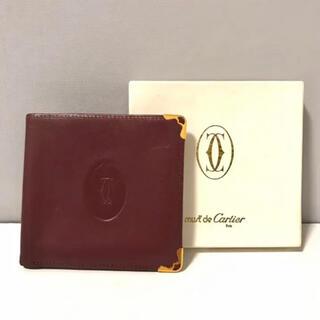 カルティエ(Cartier)のCartier カルティエ 折り畳み  パスケース  定期入れ  ブラウン(名刺入れ/定期入れ)