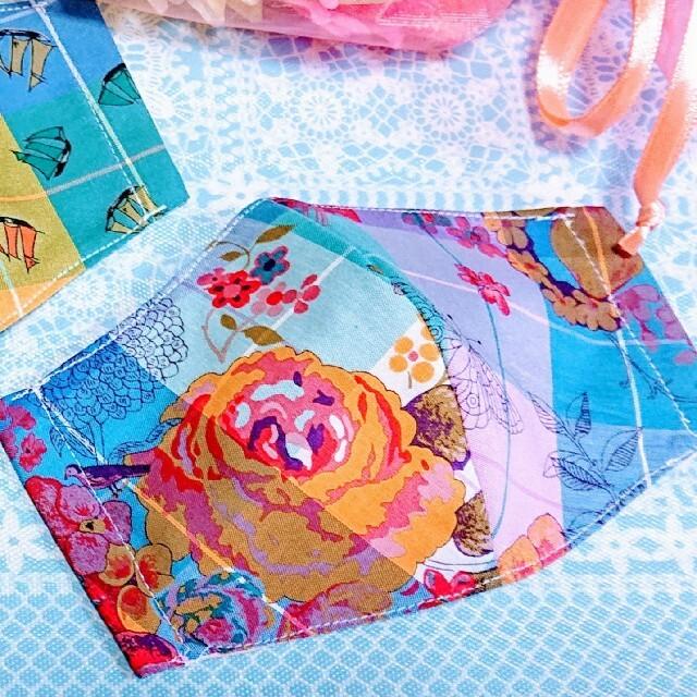 幼児用セット「リバティプリント」を用いたハンドメイドインナーマスク ハンドメイドのキッズ/ベビー(外出用品)の商品写真