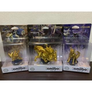 【限定amiibo】金色モンハンライズアミーボ3点セット(ゲームキャラクター)