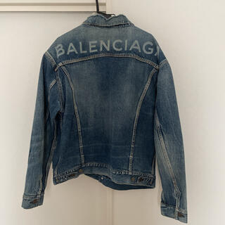 バレンシアガ(Balenciaga)のバレンシアガ バックロゴ デニムジャケット Gジャン(Gジャン/デニムジャケット)
