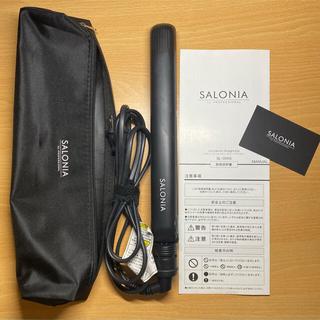 サロニア ストレートアイロン SL004S SALONIA ブラック 黒(ヘアアイロン)