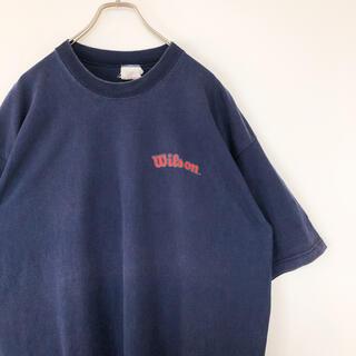 ウィルソン(wilson)のUSA製 Wilson Tシャツ プリント 刺繍 ビッグサイズ 古着(Tシャツ/カットソー(半袖/袖なし))