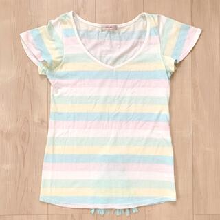 ピーチジョン(PEACH JOHN)のPEACH JOHN♡パステルボーダーTシャツ(Tシャツ(半袖/袖なし))