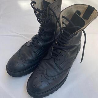 foot the coacher - ウイングチップ シャークソール 編み上げブーツ
