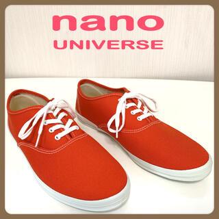 ナノユニバース(nano・universe)の[未使用] ナノユニバース ローカットスニーカー (オレンジ)(スニーカー)