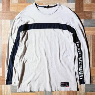 ラルフローレン(Ralph Lauren)の90's POLO JEANS USA製 スリーブロゴ 長袖 Tシャツ(Tシャツ/カットソー(七分/長袖))