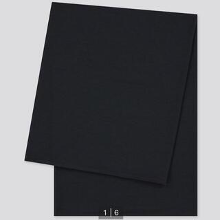 ユニクロ(UNIQLO)の新品未使用 UNIQLO ユニクロ エアリズムUVカットストール ブラック 黒(ストール/パシュミナ)