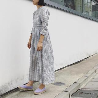 ホリデイ(holiday)のholiday stripe flower vintage dress ワンピ(ロングワンピース/マキシワンピース)