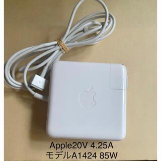 アップル(Apple)の☆中古純正Apple MacBook MagSafe2 A1424電源アダプタ(PC周辺機器)