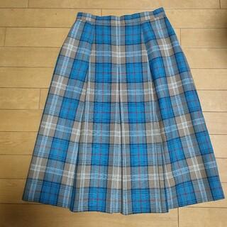 ザスコッチハウス(THE SCOTCH HOUSE)の貴重!スコッチハウス、バーバリー調タータンチェックスカート(ひざ丈スカート)