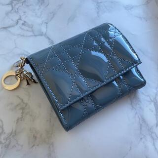 ディオール(Dior)の新品未使用 レディディオール dior クラウドブルー二つ折りミニ財布(財布)
