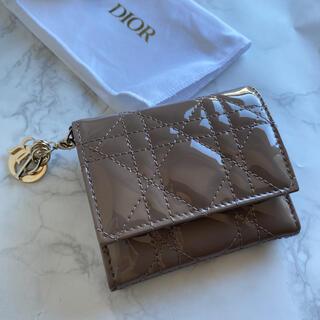 ディオール(Dior)の★新品DIOR ミニ財布 レディディオール ロータスウォレット トープ(財布)