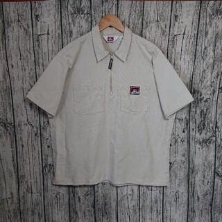 ベンデイビス(BEN DAVIS)の美品BEN DAVISハーフジップシャツmade in USAベンデイビス古着(シャツ)