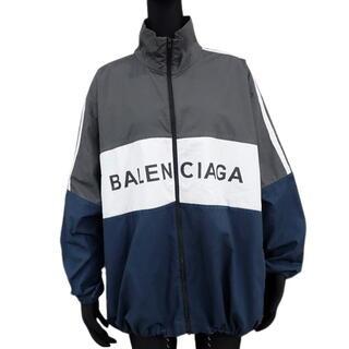 バレンシアガ(Balenciaga)のバレンシアガ アウター トラックジャケット  グレー 40802000646(ナイロンジャケット)