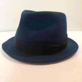 ワコマリア(WACKO MARIA)のワコマリア ラビットファー ハット 青 アロハ シャツ パンツ キャップ 帽子 (ハット)