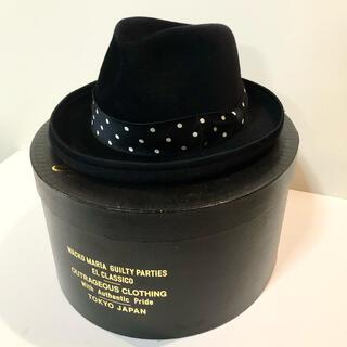 ワコマリア(WACKO MARIA)のワコマリア ラビットファー ハット 黒 アロハ シャツ パンツ キャップ 帽子 (ハット)