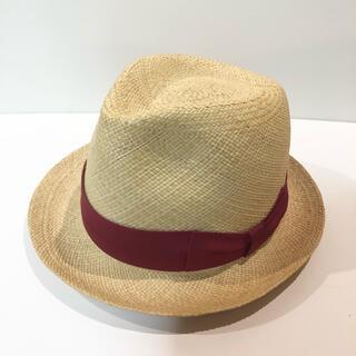 ワコマリア(WACKO MARIA)のワコマリア パナマ ハット 状態良好 アロハ シャツ パンツ キャップ 帽子 赤(ハット)