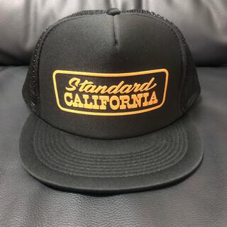 スタンダードカリフォルニア(STANDARD CALIFORNIA)のスタンダードカリフォルニア キャップ  ブラック×オレンジ  (キャップ)